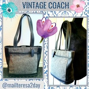 TWEED VINTAGE COACH PURSE EUC